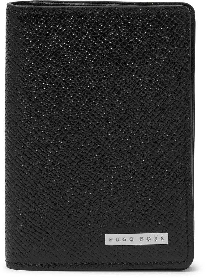 Hugo Boss Polished Full-Grain Leather Bifold Cardholder   Mens ...