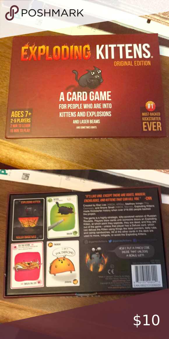 Exploding Kittens Card Game Brand New Nwt In 2020 Exploding