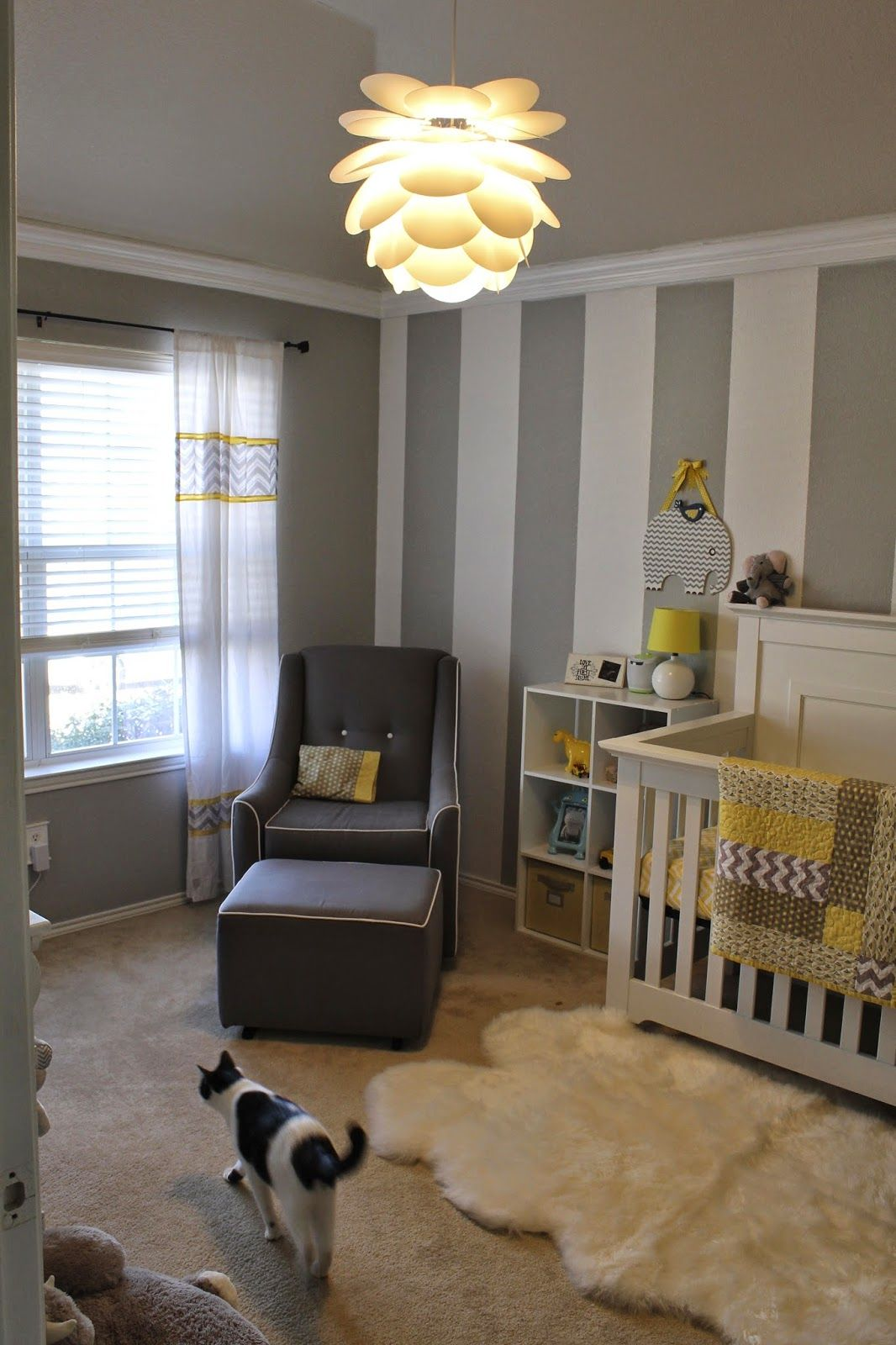 All Things Alisa Gray White Yellow Nursery