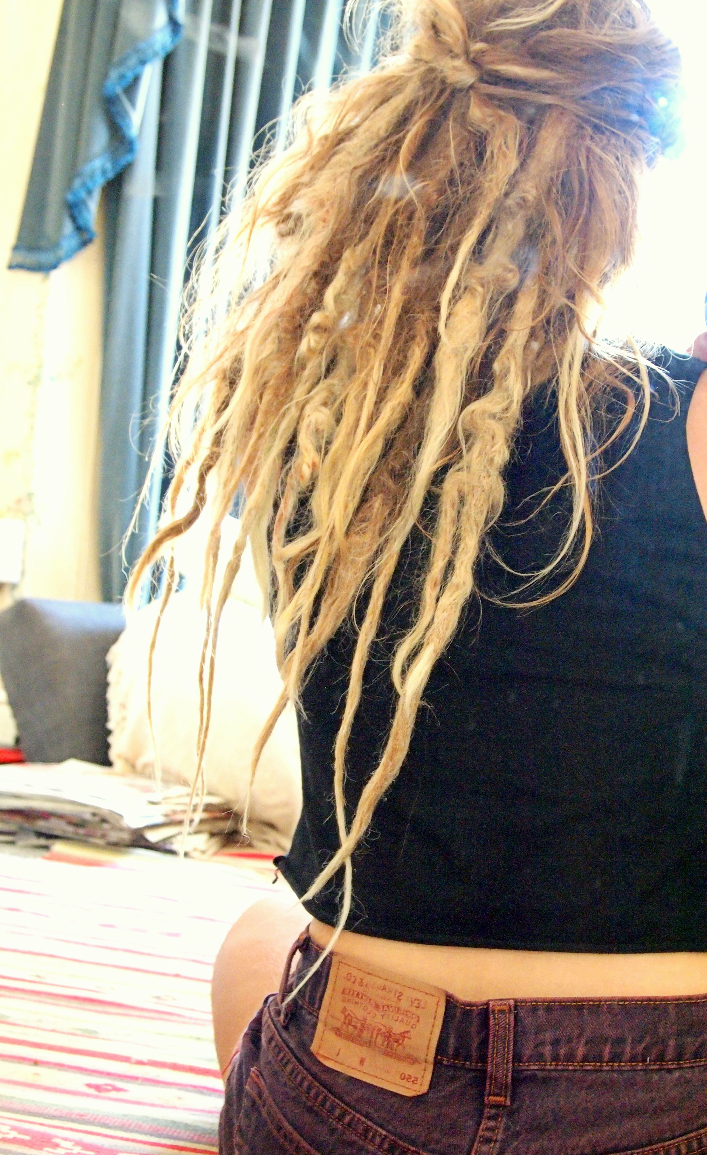 Natural Hair With Rat Tail Dread