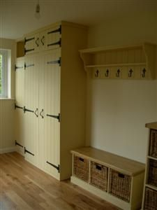 Hall Cupboards Furniture coat cupboard - a bit too old-fashioned, but we like the built-in