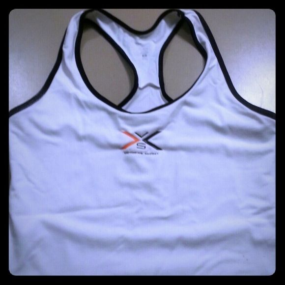 Victoria's Secret work out razor back tank Breathable material but thick enough that it is not see through. Worn a handful of times.  In great condition. Victoria's Secret Tops Tank Tops