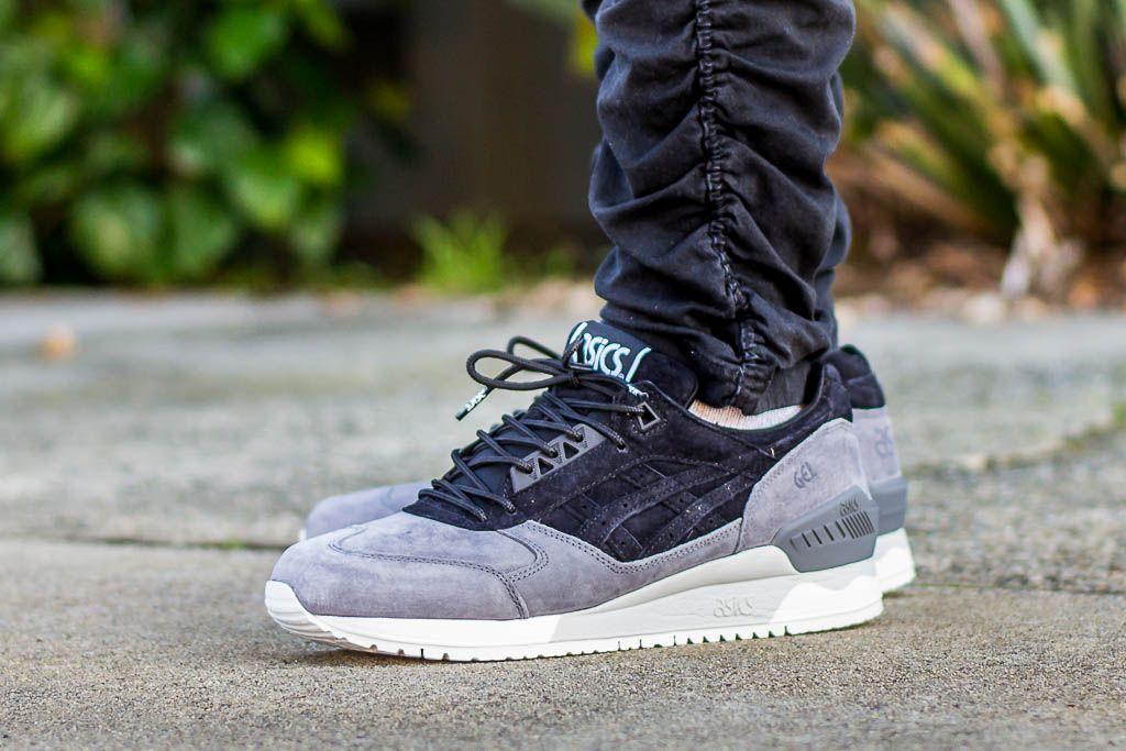 Asics Gel Respector black white on foot 1 | Sneaker boots