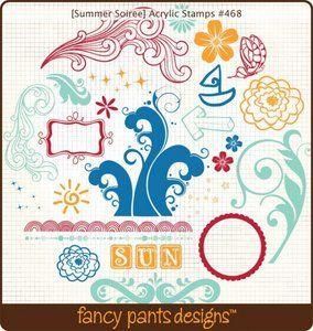 Fancy Pants Designs > Summer Soiree > Summer Soiree Clear Stamps by Fancy Pants (retired?)