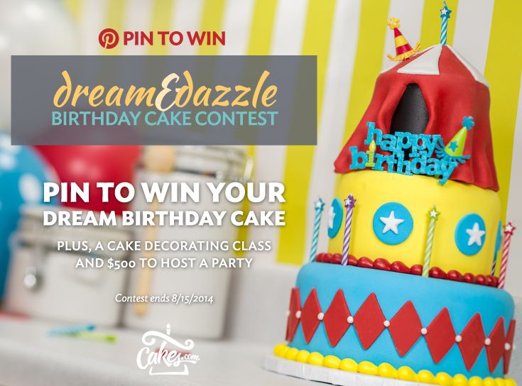 Pin images of your dream birthday experience and you could win a custom birthday cake, cake decorating class led by a professional decorator, and $500 to host a party! Enter at http://woobox.com/pskyhb through 8/15/2014.