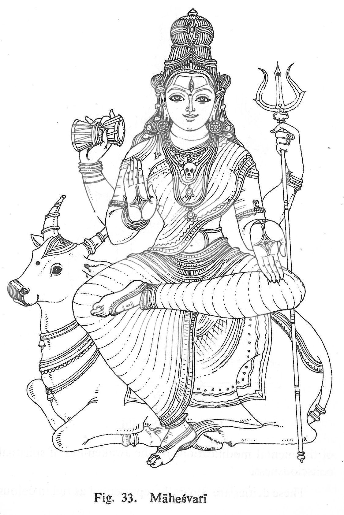 Mahesvari | mural painting | Pinterest | Hindus, Espiritual y Mitología
