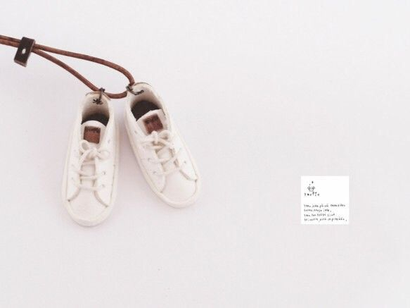 スニーカーネックレス(ホワイト)|ネックレス・ペンダント|toupie|ハンドメイド通販・販売のCreema