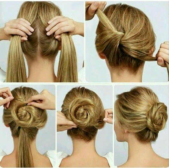Easy Hairstyle For Long Hair Step By Step Photo Bun Hairstyles For Long Hair Hair Styles Easy Hairstyles For Long Hair