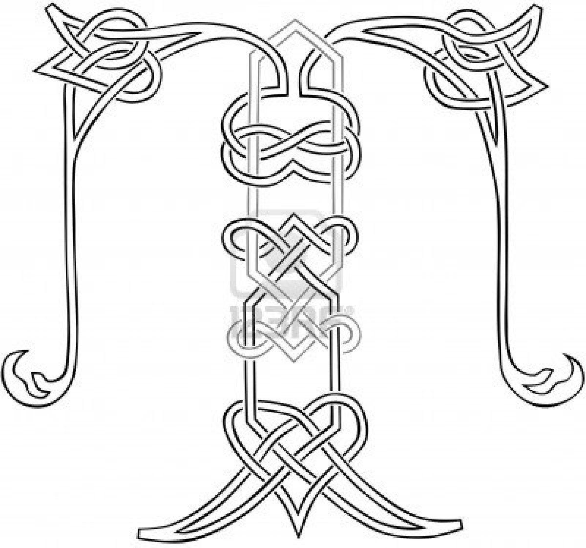 Des lettres az coloriage xpx coloriage enluminure lettre v page 2 car - Image De La Cat Gorie A Celtic Knot Work Capital Letter C Stylized Outline Image