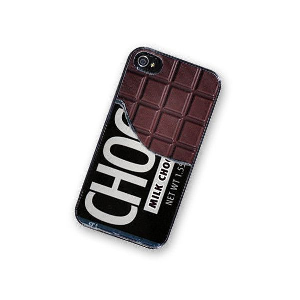 iPhone 4 Case Chocolate Bar Candy iPhone Hard Case / Fits Iphone 4, 4S ($18) ❤ liked on Polyvore featuring accessories, tech accessories, phone cases, phone, cases and electronics