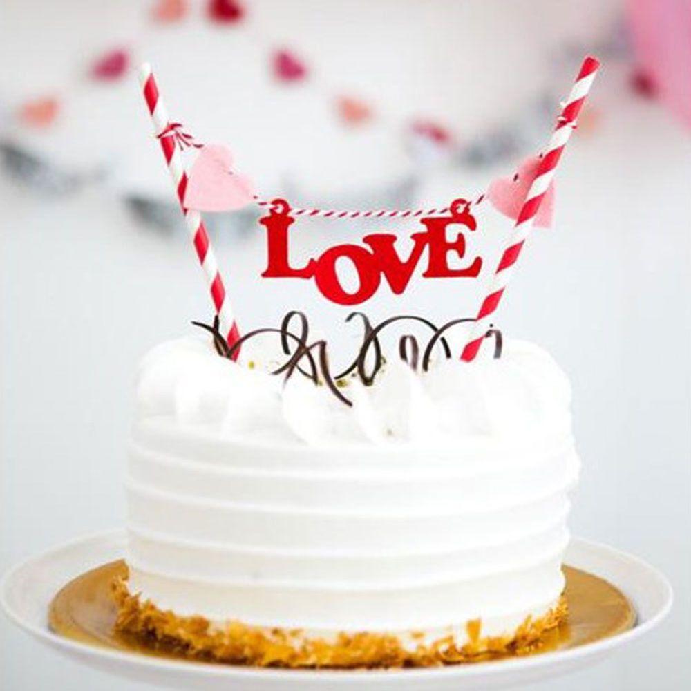 Happy Birthday Cake Picks Shower Bunting Banner Kit Flag Decoration