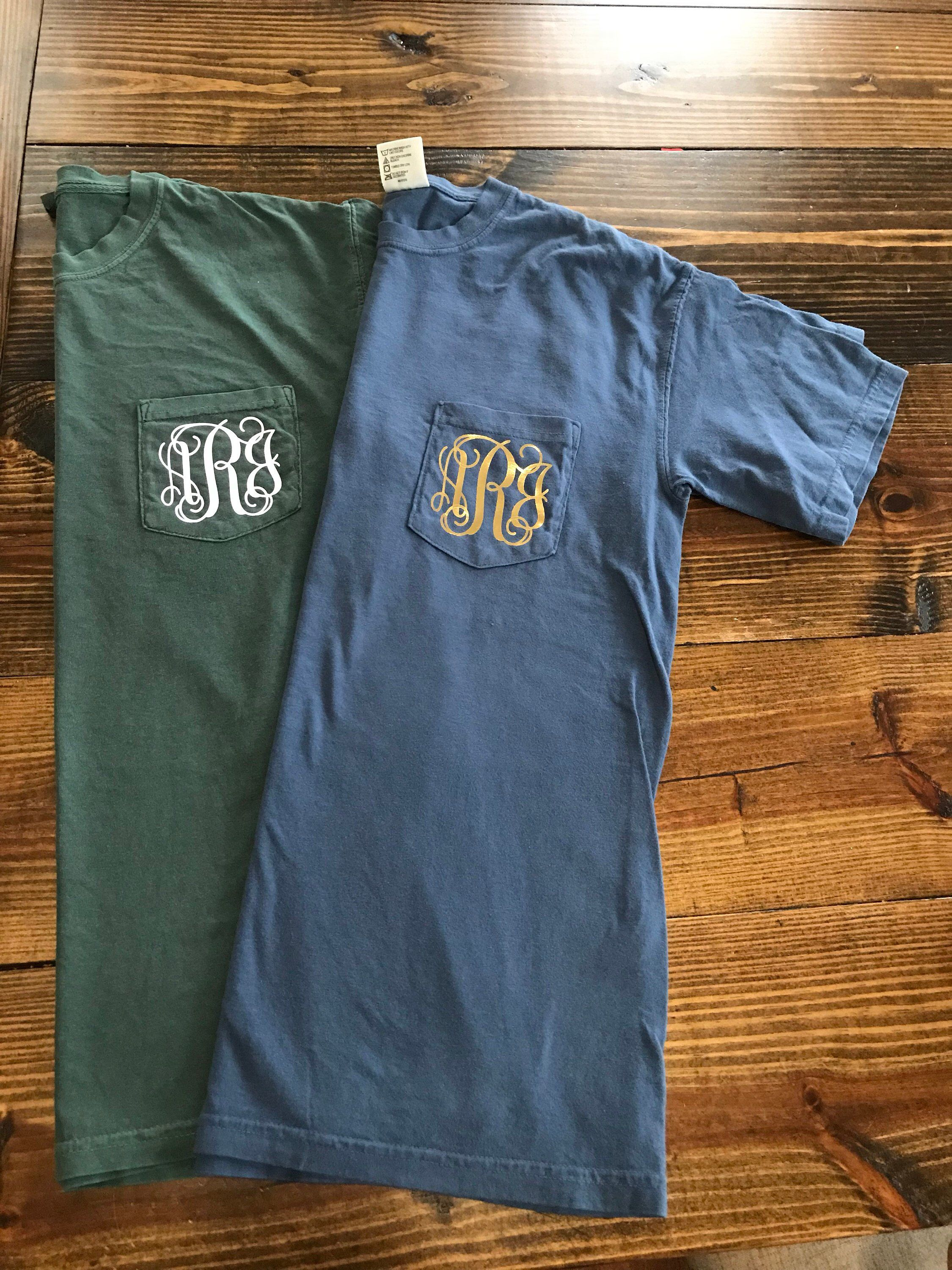 065a15c1d7a48 Pin by Amber Rachford on My Style in 2019 | Monogram pocket tees ...
