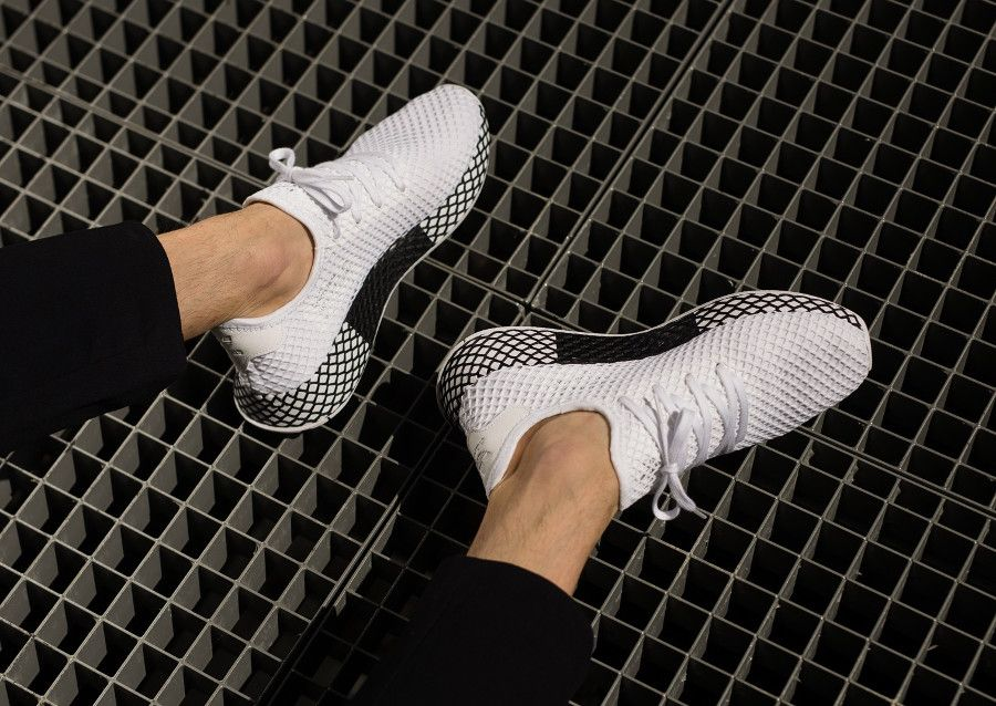 purchase cheap 41da3 01fe7 adidas-deerupt-runner-white-black-on-feet-B41767 (1)