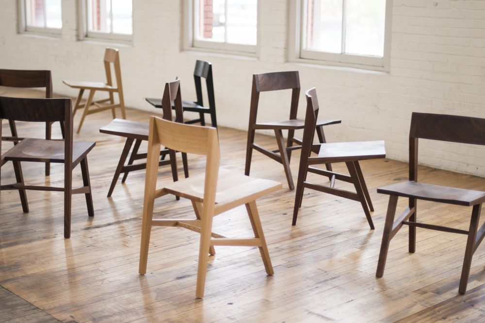 A simple comfortable solid wood dining chair