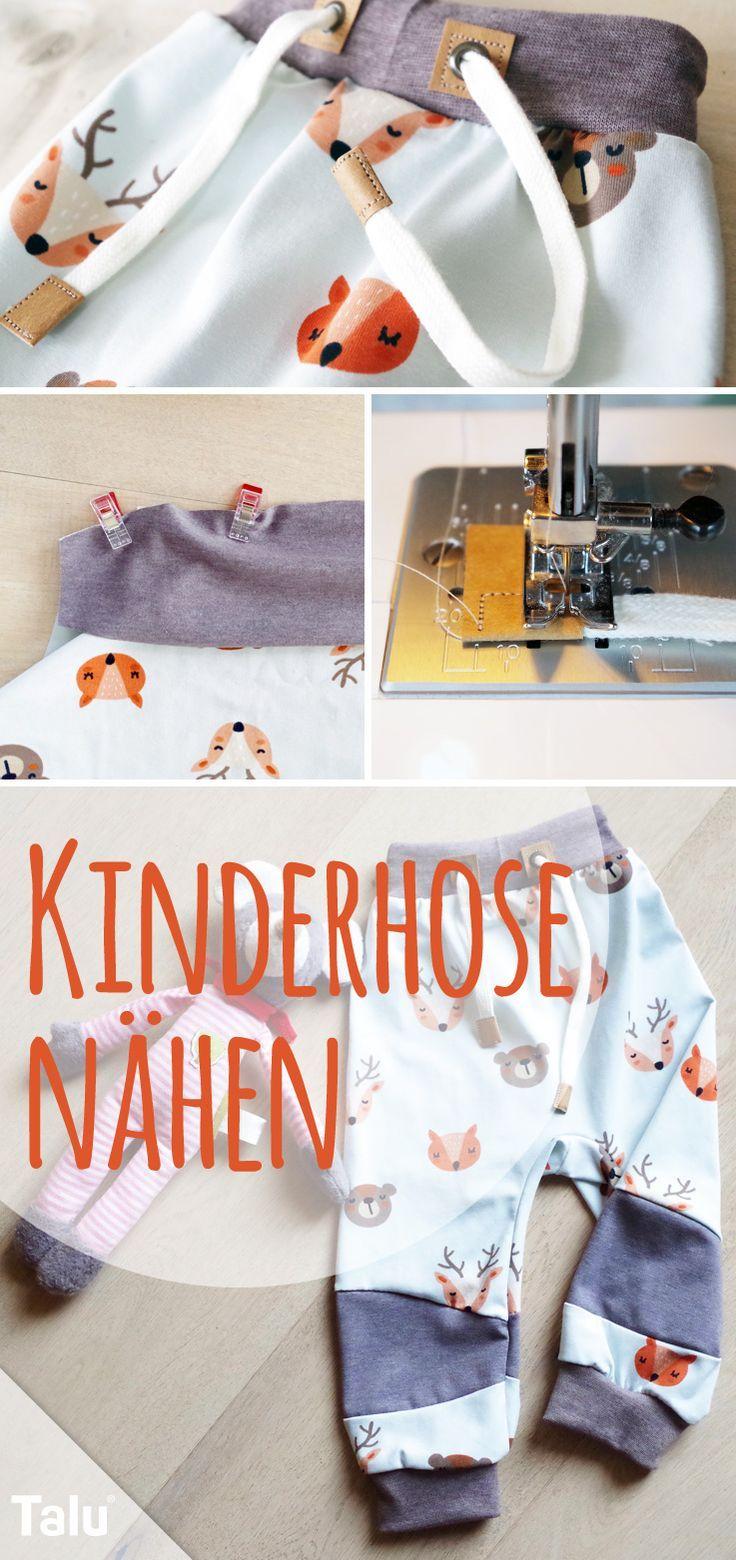 Photo of Nähen von Babyhosen / Kinderhosen – kostenloses Muster und Muster – Talu.de