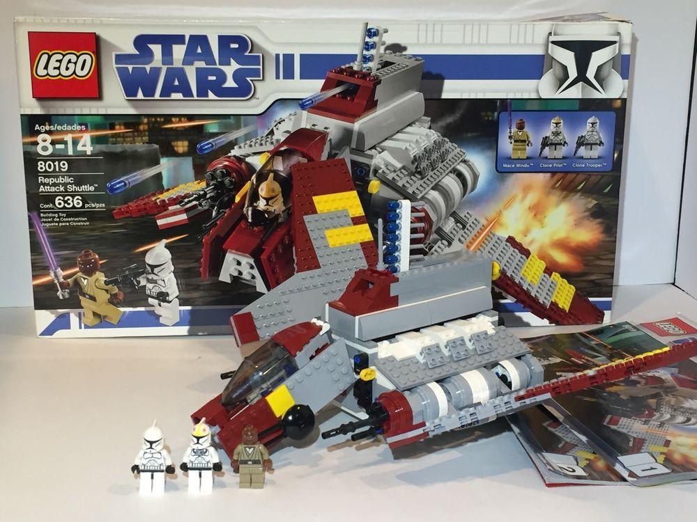 Lego Star Wars Republic Attack Shuttle 8019 Retired Complete RARE w Mace Windu 5702014533295 | eBay