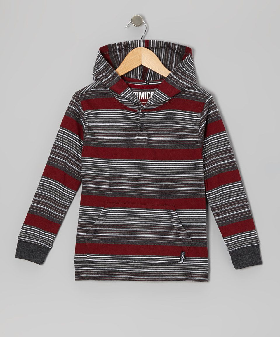 Another great find on #zulily! Micros Heather Black Stripe Hoodie - Toddler & Boys by Micros #zulilyfinds