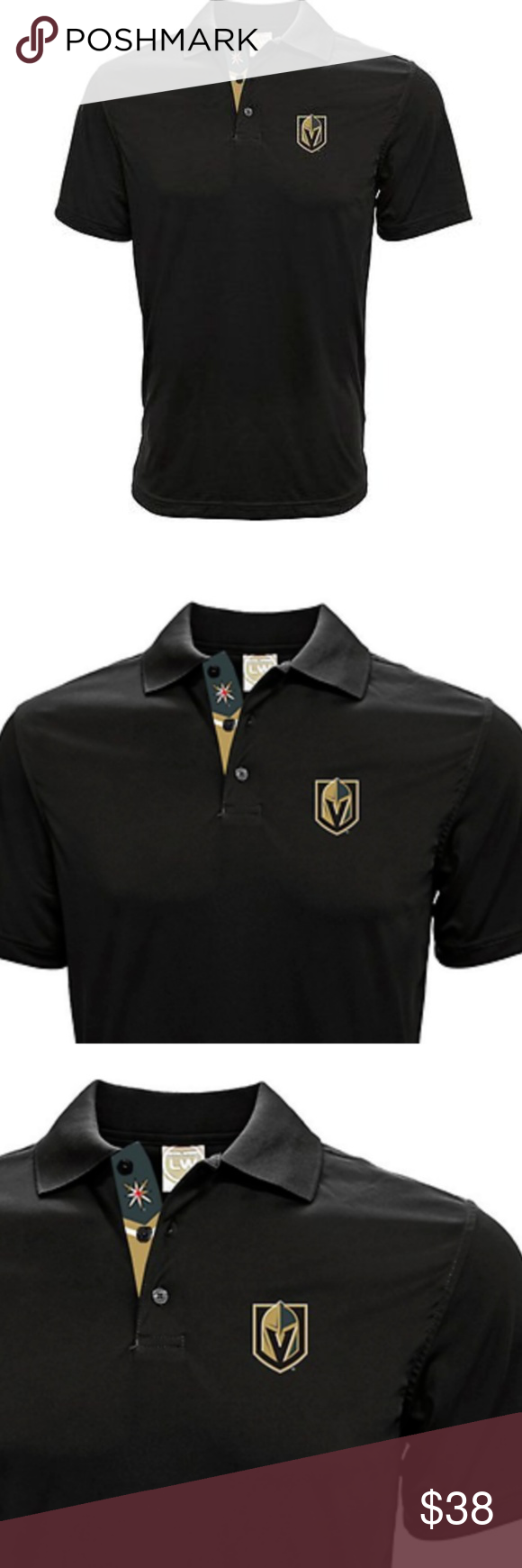 sale retailer 7860a 540e4 Vegas Golden Knights NHL Performance Polo Shirt S Men's NHL ...