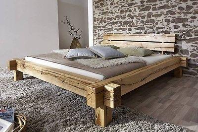 Schlafzimmermöbel Massivholz ~ Massivholz balkenbett balkeneiche 140x200 cm jangali #101 zÜrich in