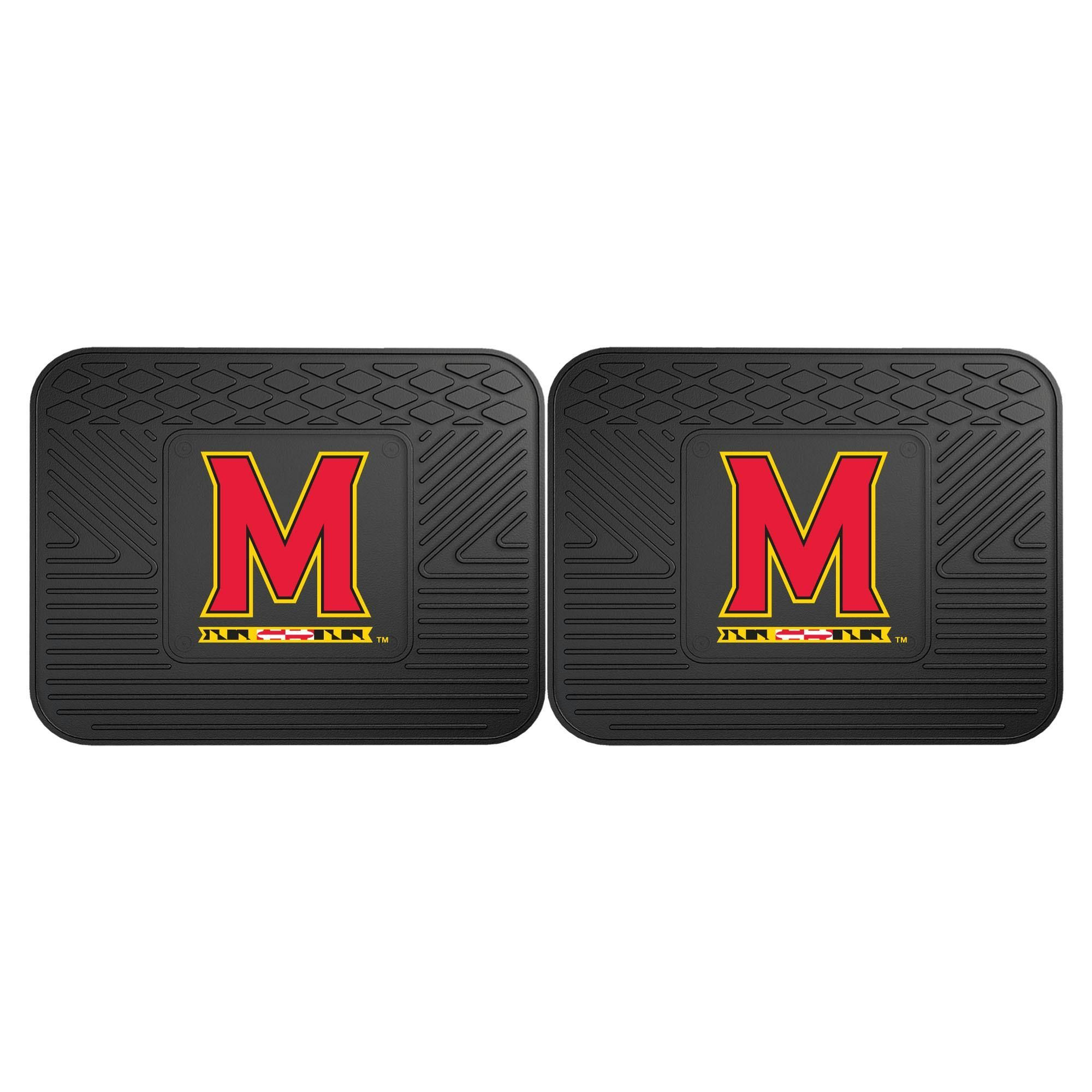 University of Maryland Backseat Utility Mats 2 Pack 14x17
