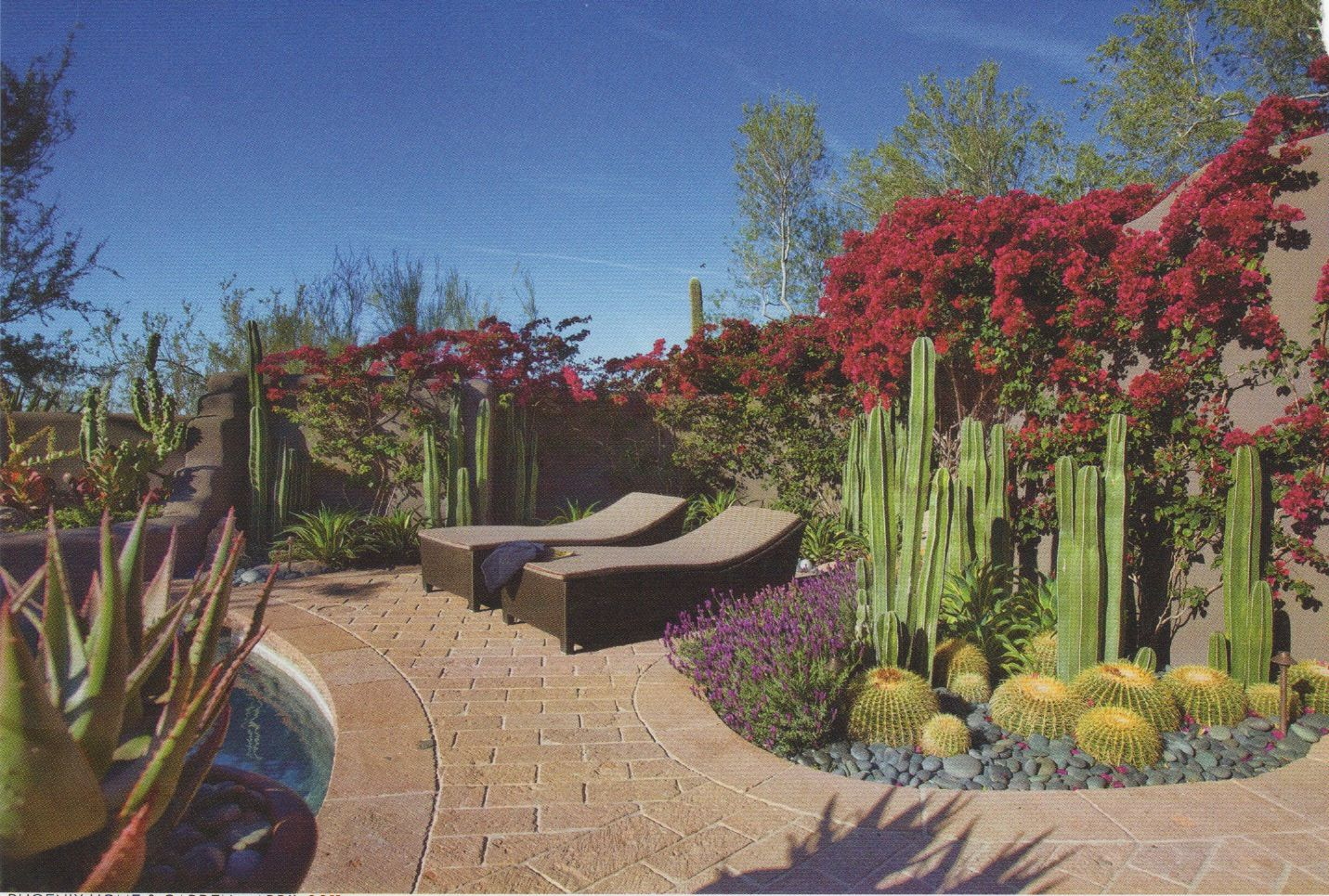 river rocks entry garden. From Phoenix Home And Garden - This Is How I Want To Use River Rock In Rocks Entry