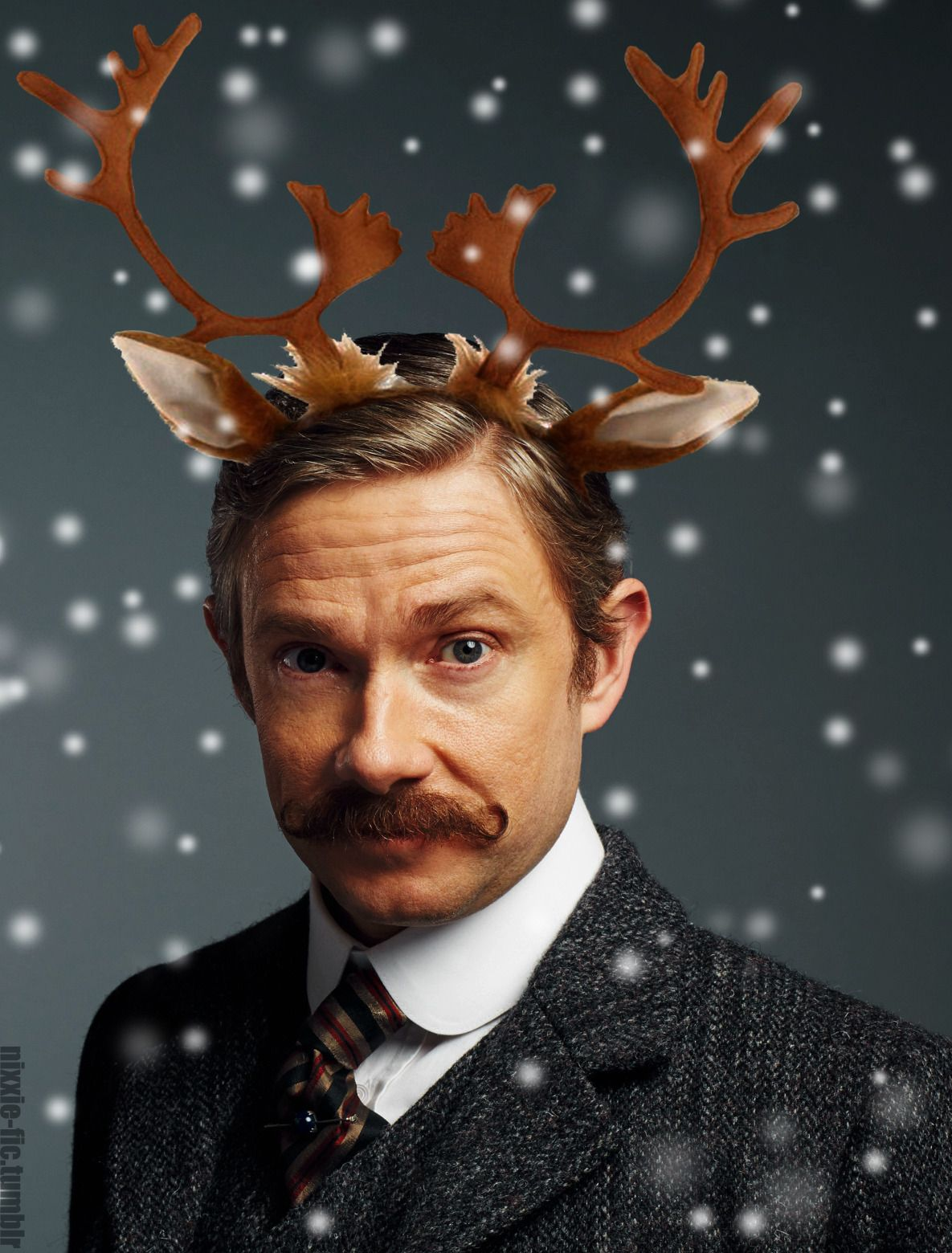 """""""I wish you could have worn the antlers"""""""