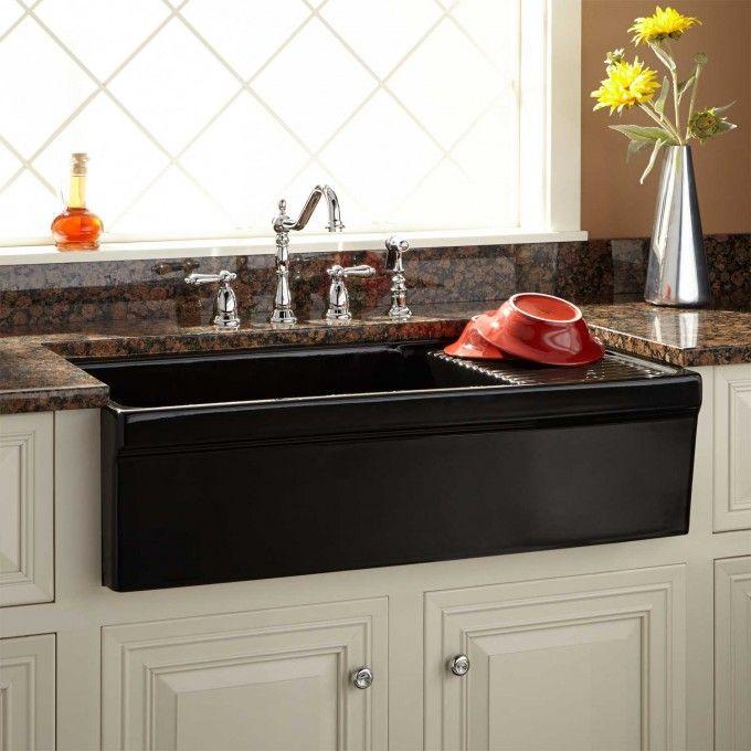 42 cast iron wall mount kitchen sink with drainboard in 2019 rh pinterest com