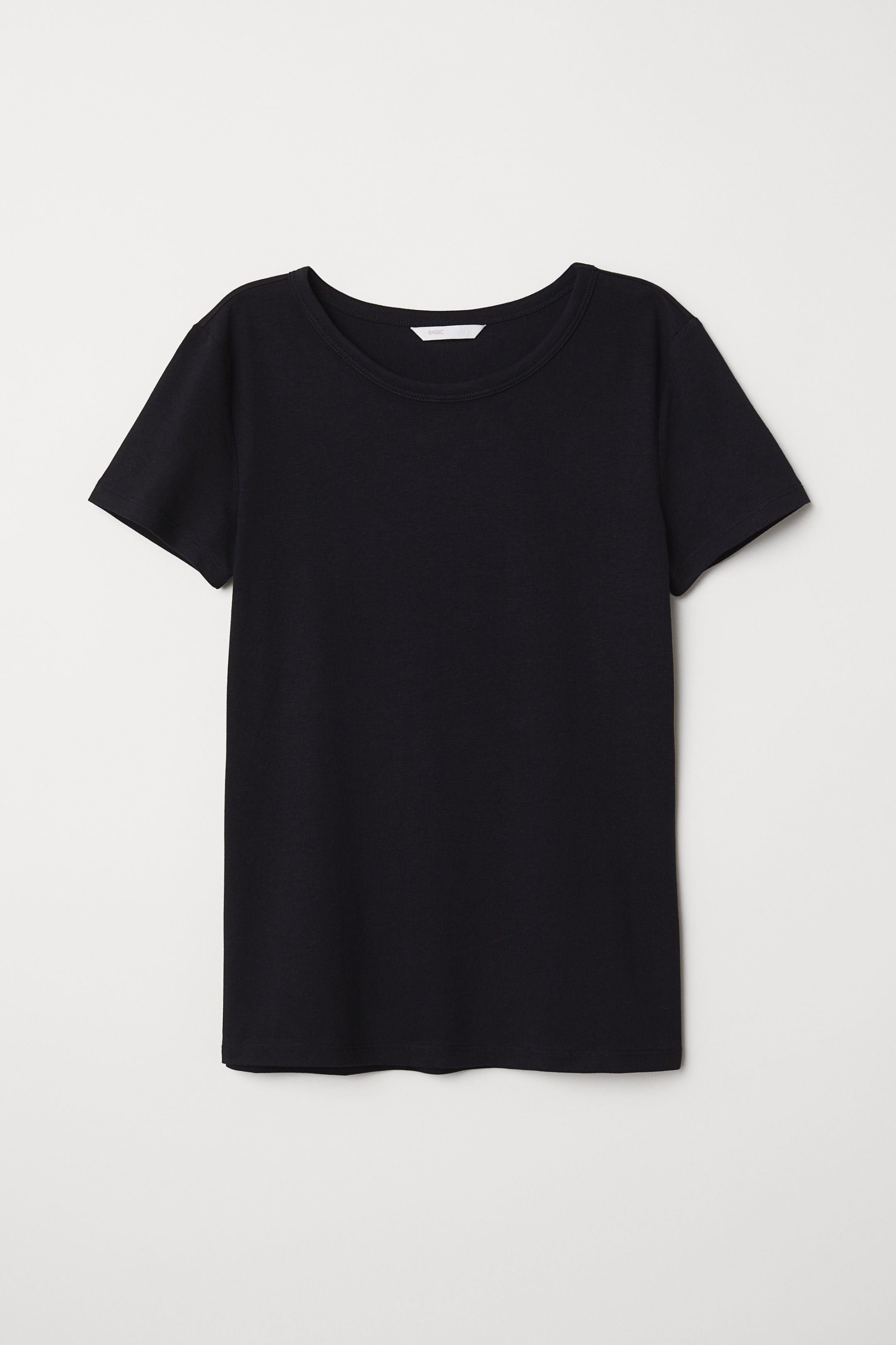dda1626bd63c H&M T-shirt - Black in 2019 | wardrobe | Shirts, Mens black shirt ...
