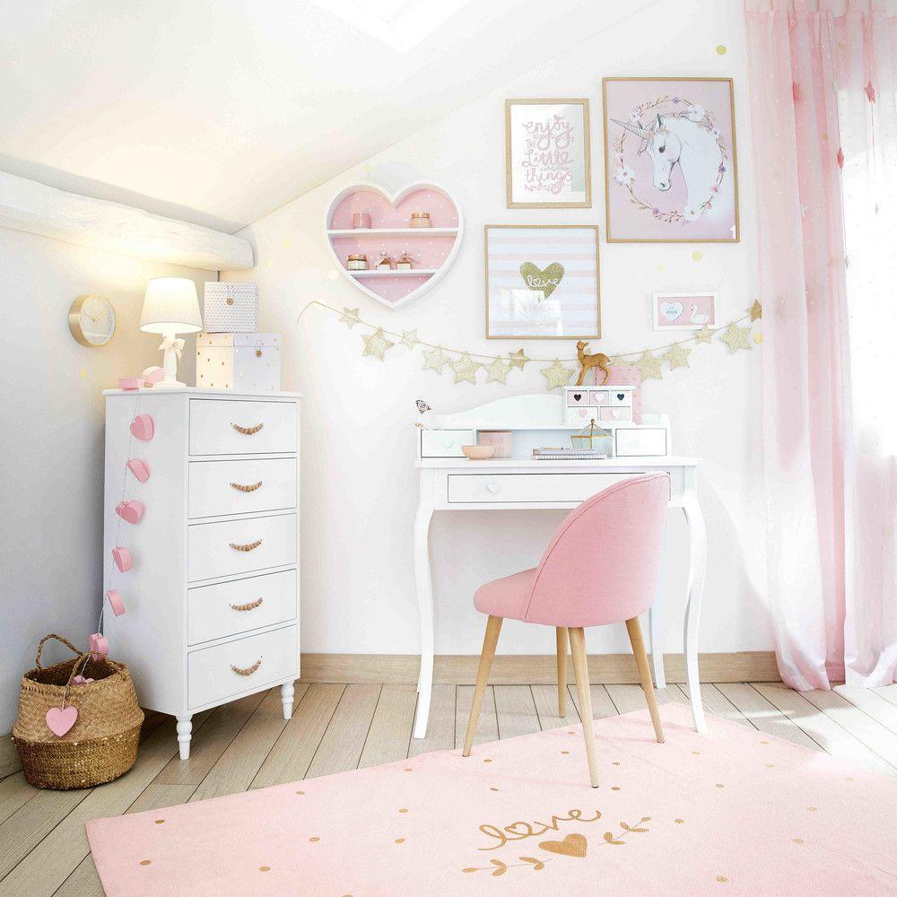 Chaise vintage rose et bouleau massif | Maisons du Monde ...