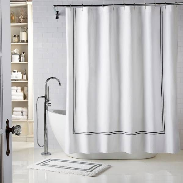 Product Image For Wamsutta Baratta Stitch Shower Curtain 1 Out Of