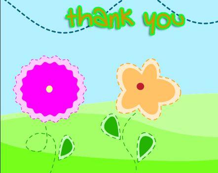 Free printable kids thank you cards, free printable children's ...