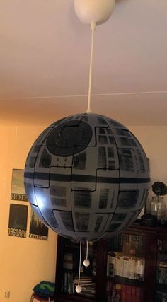turn ikea hanging lamp into star wars death star michael 39 s world pinterest. Black Bedroom Furniture Sets. Home Design Ideas