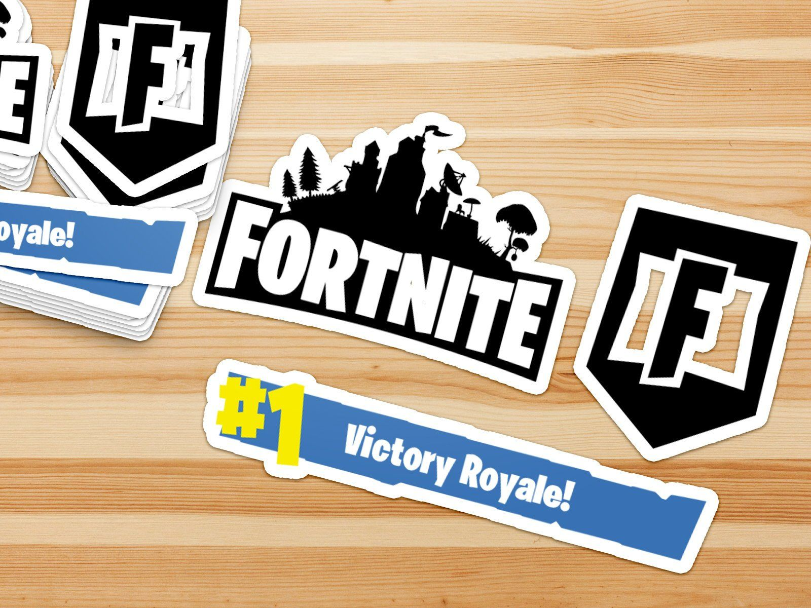 Fortnite Battle Royale Themed Stickers Decals F Letter Fortnite Logo Victory Royale Themed Stickers Vinyl Sticker Lettering