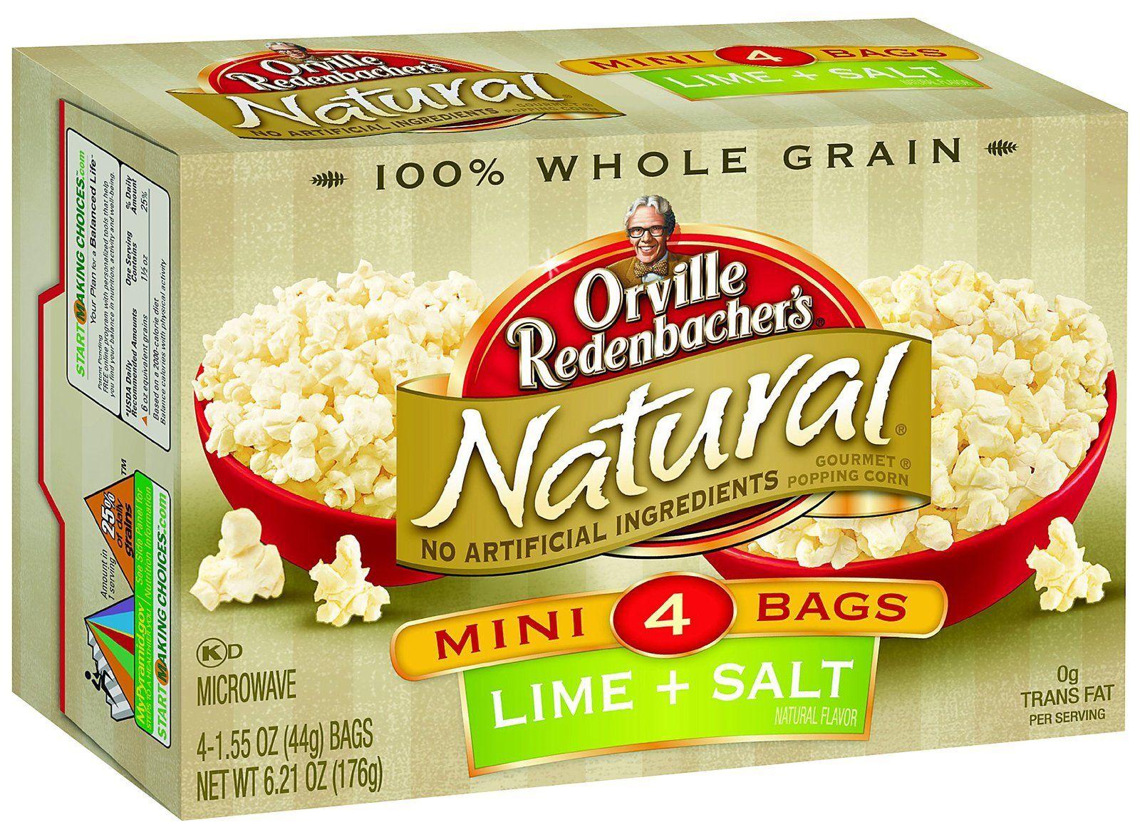 Orville Redenbacher Natural Salt Lime Microwave Popcorn 12 Pk Natural Snacks Lime Salt Butter Popcorn