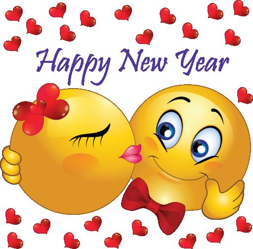 New Year's Kiss Smileys Smiley emoji, Emoji love, Smiley