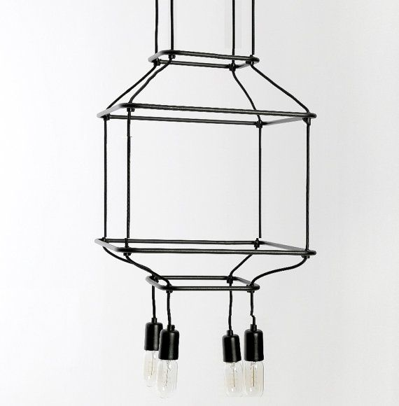 restoration industrial pendant lighting. WIRE Handmade Pendant Light Chandelier Edison Restoration Industrial Style Minimal Geometric Lighting
