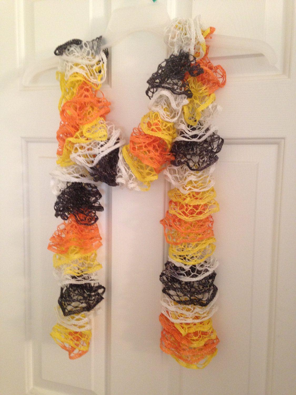 Trick or Treat Halloween Scarf Black White Orange Yellow ...