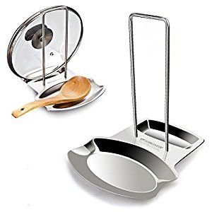 Yummy Sam Lid And Spoon Rest Utensils Holder Shelf Kitchen Holders Stainless Steel In Silver
