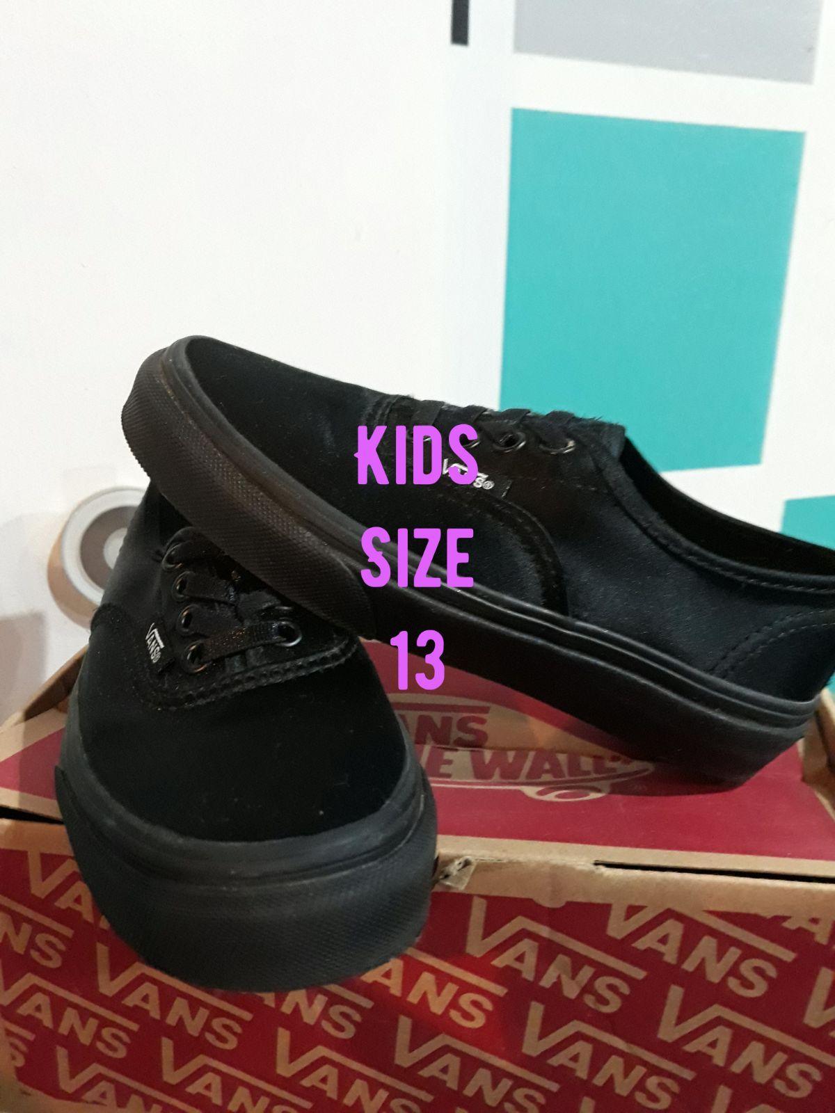 size 13 kids vans