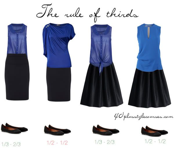 rule of thirds skirts | 40plusstylecourses.com ...