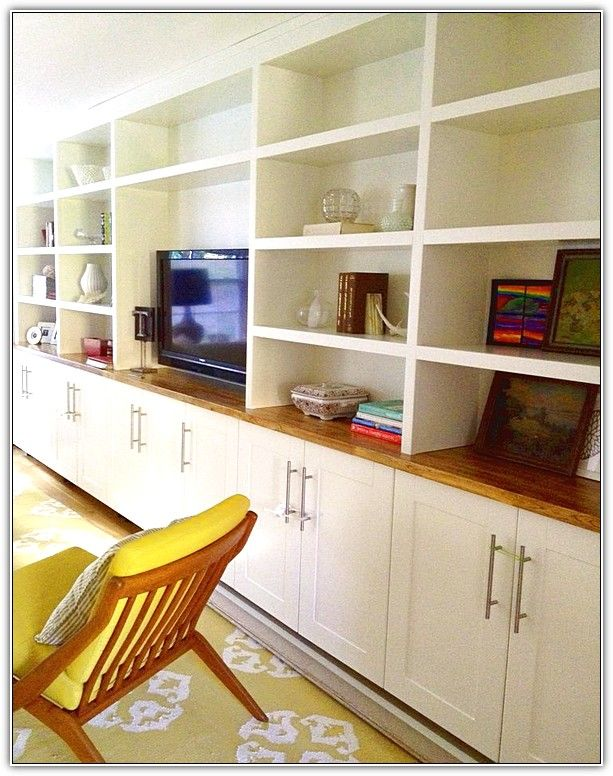 Ikea Kitchen Cabinets As Built Ins Family Room Storage Ikea