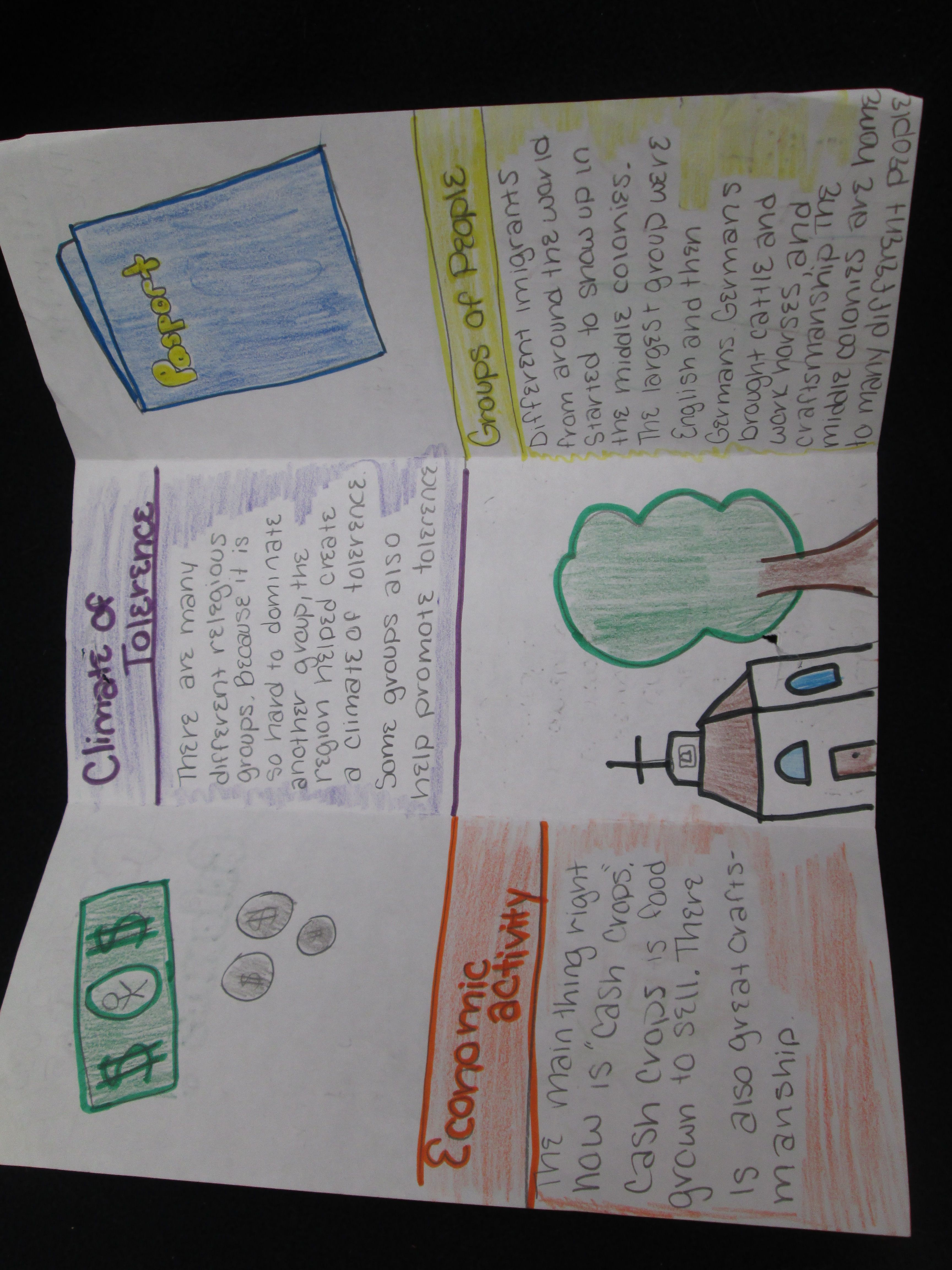 Middle Colonies Brochure Project