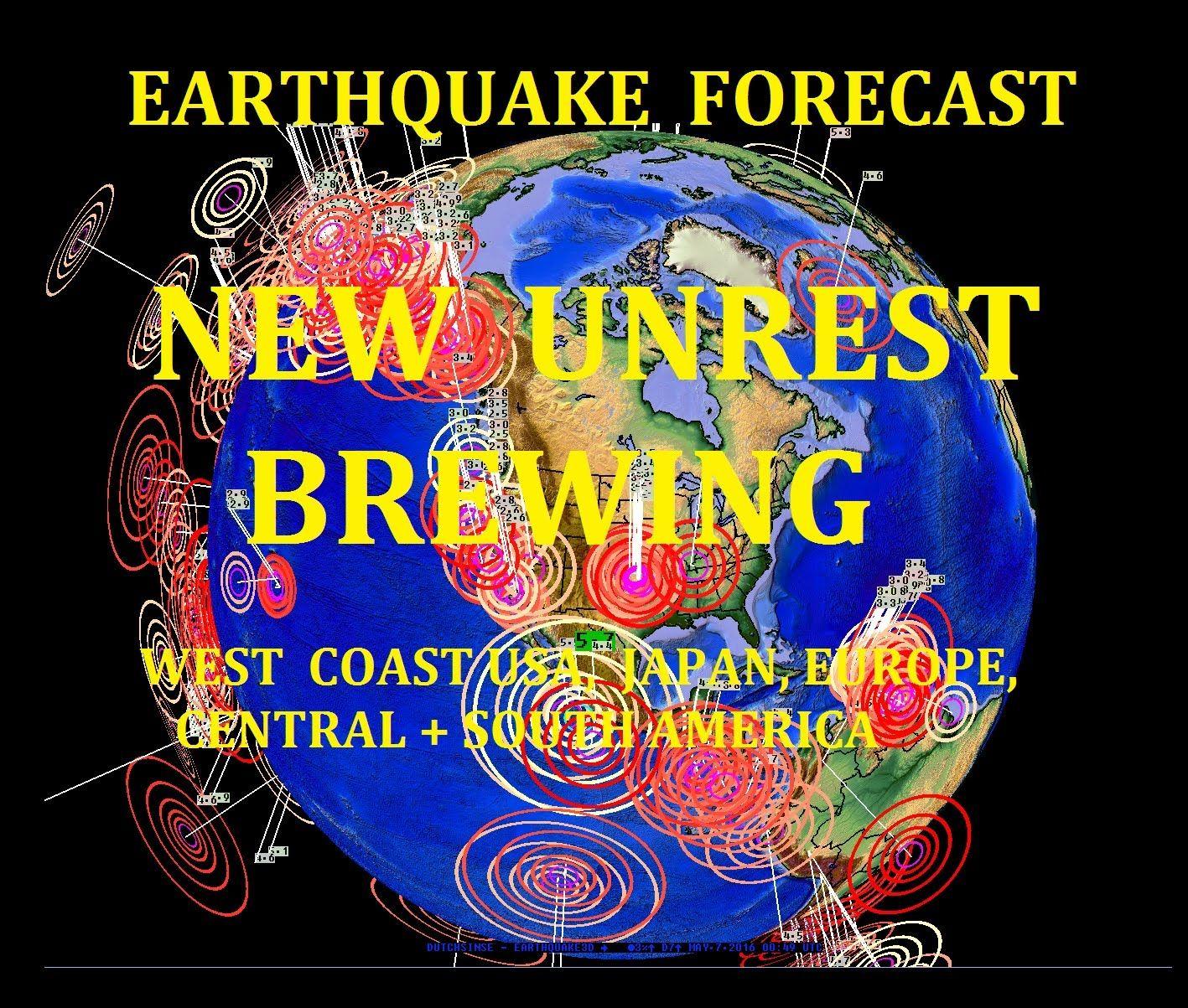 5/06/2016 -- Earthquake Forecast -- West Coast under pressure + International Unrest brewing   Earthquake. Spirit of fear. Under pressure