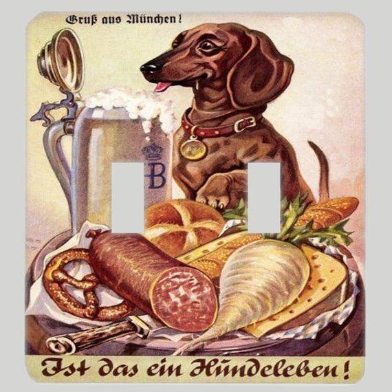 Beer Hound Vintage German Dachshund Beer Advertising Light