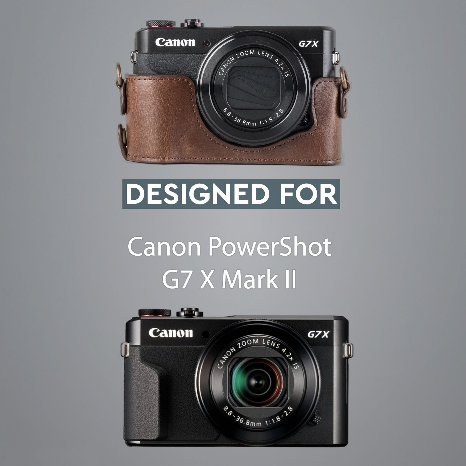 Megagear Canon Powershot G7 X Mark Ii Ever Ready Leather Camera Half Case And Strap With Photography Inspiration Nature Camera Case Black And White Challenge
