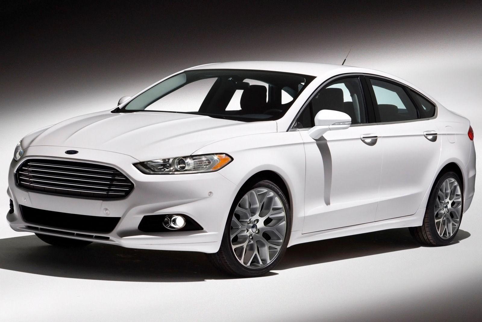 White Ford Fusion 2016 Wallpaper HD