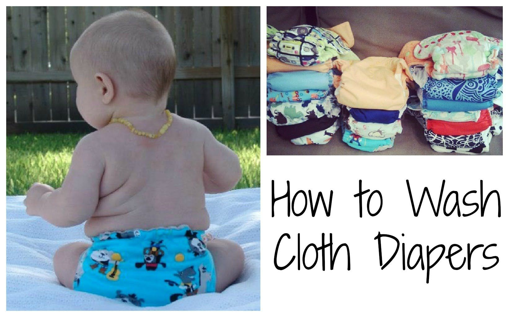 How to Wash Cloth Diapers Wash cloth diapers, Baby cloth