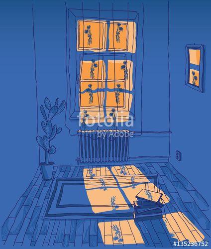 Image Result For Light Coming Through Window Drawing Ilustration Art Illustration Art Night Shadow
