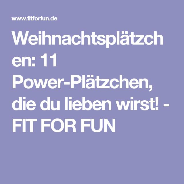 Weihnachtsplätzchen:  11 Power-Plätzchen, die du lieben wirst! - FIT FOR FUN