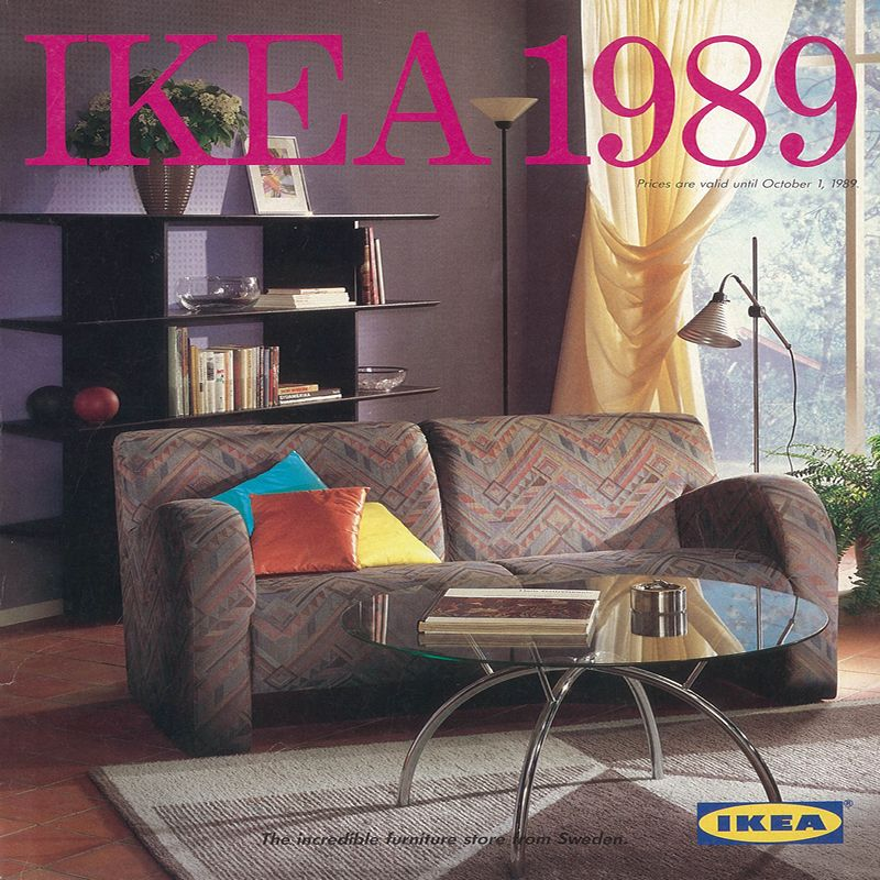 Furniture Catalogues: The 1989 IKEA Catalogue Cover.